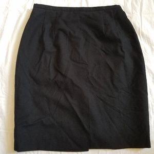 Harve Benard Sport Black Pencil Skirt Wool Size 10